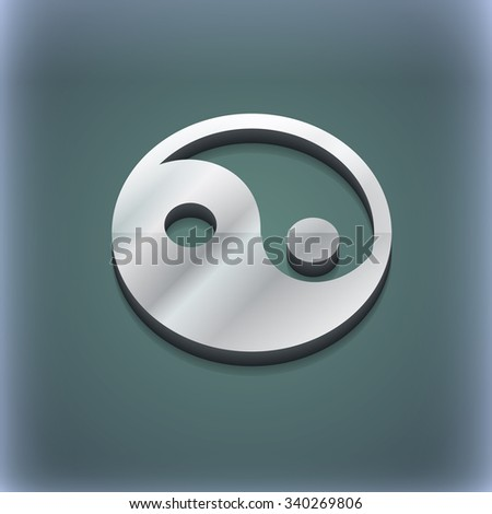 Ying yang icon symbol. 3D style. Trendy, modern design with space for your text illustration. Raster version - stock photo