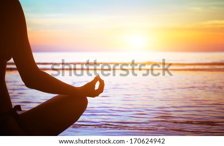 yoga and healthy lifestyle - stock photo