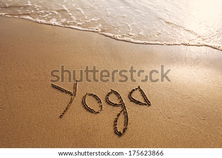yoga concept  - stock photo