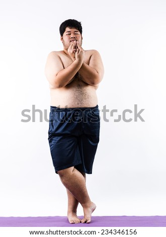 yoga for fat - stock photo