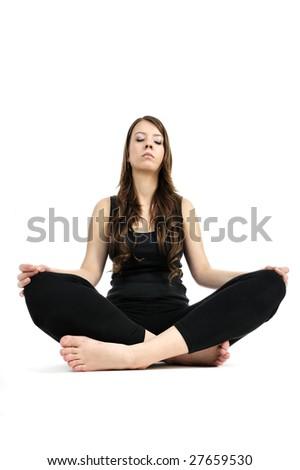 yoga girl - stock photo