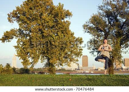 Yoga in Louisiana - stock photo