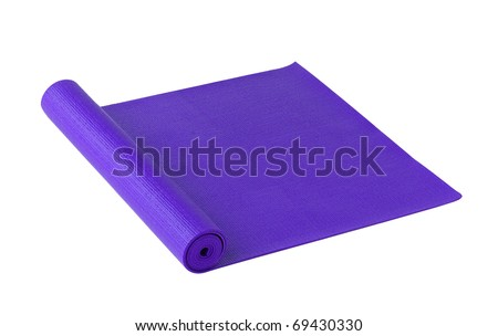 Yoga or exercise mat isolated - stock photo