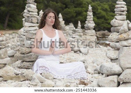 Yoga Style - stock photo