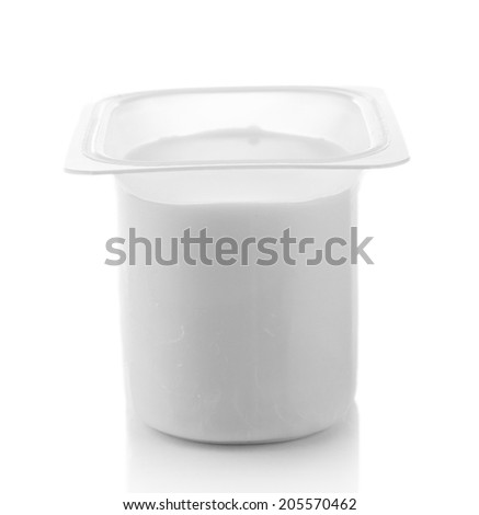 Yogurt isolated on white