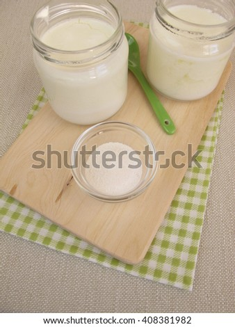Yogurt with inulin powder