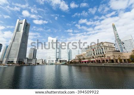 Yokohama bay - stock photo