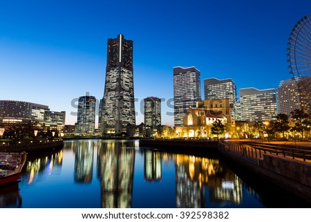 Yokohama city at night