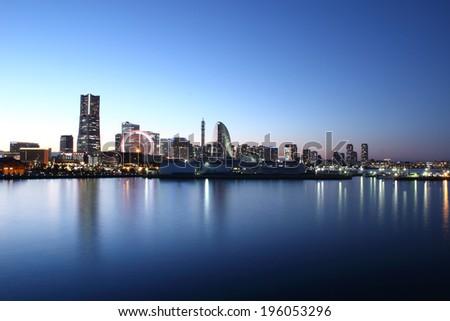 Yokohama city , Japan - stock photo