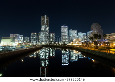 Yokohama cityscape at night