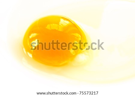 yolk from broken eggs photographed on a light background