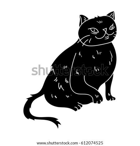 York Chocolate Icon Black Style Isolated Stock Illustration