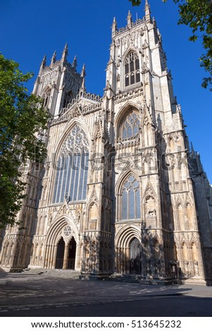 York Minster  cathedral (Metropolitical Church of Saint Peter in York) in North Yorkshire, England