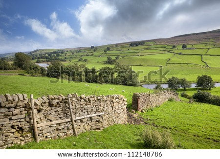Yorkshire Dales, Swaledale, England - stock photo