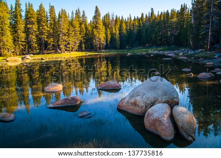 Yosemite Lake - stock photo