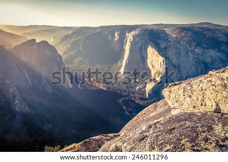 Yosemite National Park, California, filter - stock photo