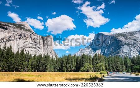 Yosemite National Park Valley, California USA - stock photo
