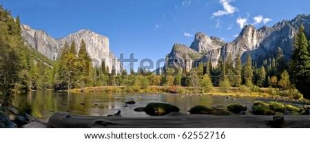 Yosemite valley from the Merced River.