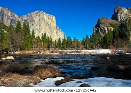 Yosemite Valley in Yosemite National Park,California - stock photo