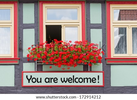 You are welcome ! - stock photo