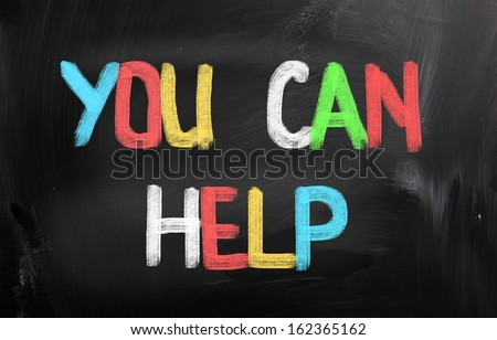 You Can Help Concept - stock photo
