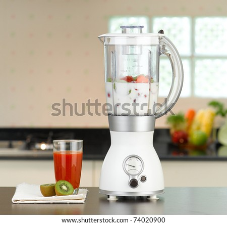 You can make smoothie at home by the electric blender