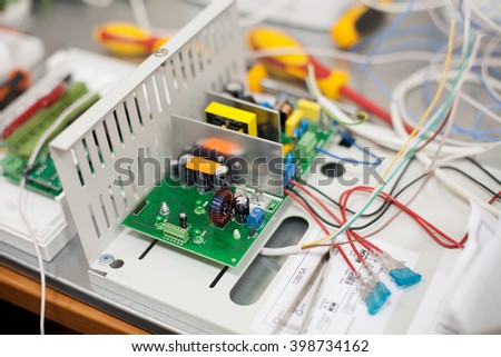You can see electronic board of uninterruptable power source.