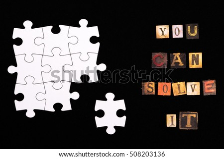 You can solve it letters and puzzle