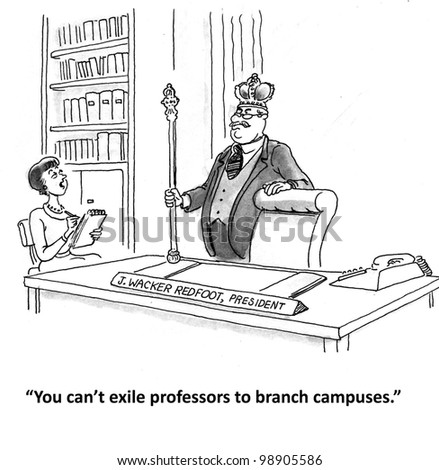 you can't exide professors to branch campus