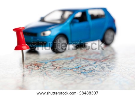 you have reached your destination - stock photo