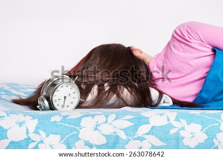You just keep on ringing and i'll keep on sleeping - stock photo