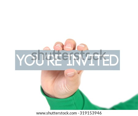 You re invited - stock photo