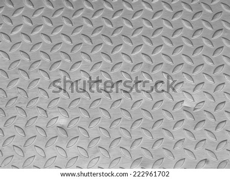 You walk on a steel background texture.