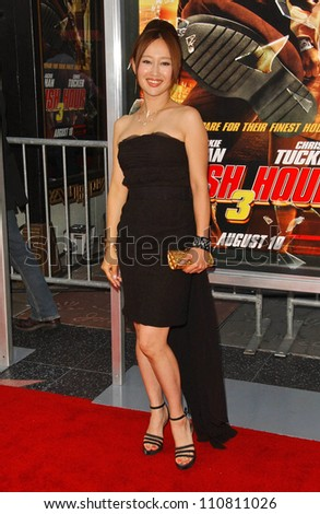 "Youki Kudoh at the Los Angeles Premiere of ""Rush Hour 3"". Mann's Chinese Theater, Hollywood, CA. 07-30-07 - stock photo"