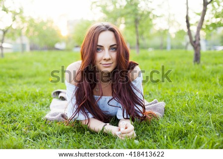 young adult girl outdoor