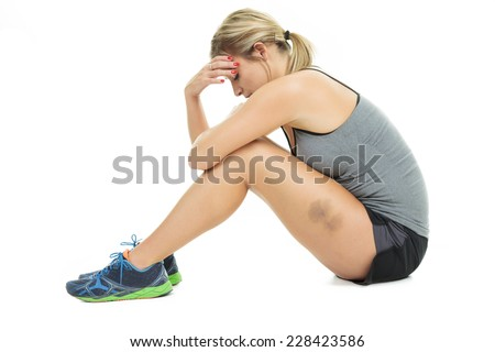 young adult training  - stock photo