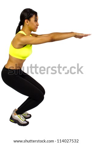 Young African American Female warming up - stock photo