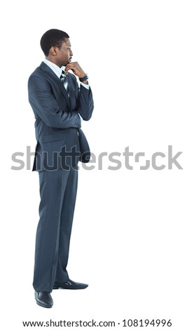 Young African American Male Model on Isolated Background - stock photo