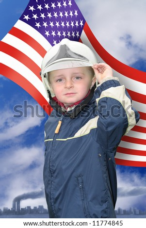 Young American Fireman - stock photo