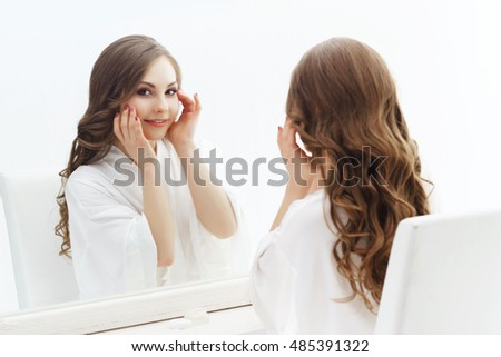 Artiste, wish young beautiful bride preparing like milf