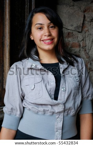 Young and Beautiful Hispanic teenager - stock photo