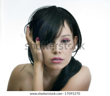 young and beauty  emo girl photo - stock photo