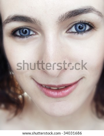 Young and beauty woman looking at you.