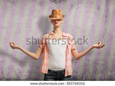 Young and free - stock photo