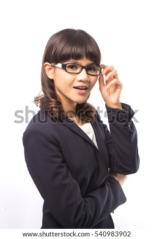 Young and  smart Asia business woman