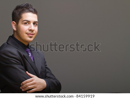 Young and trendy businessman with nice smile. - stock photo