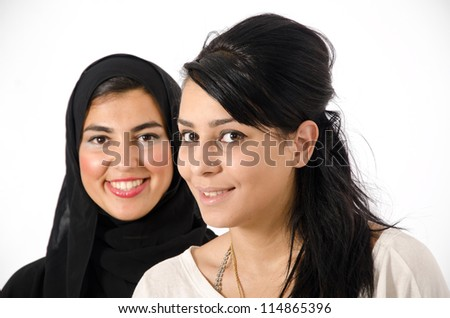 Young Arab Females - stock photo