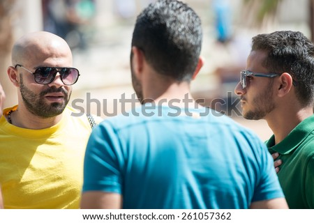 Young Arabic people in Middle East - stock photo
