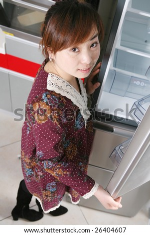 young asia girl - stock photo