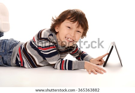 young asian boy on white background